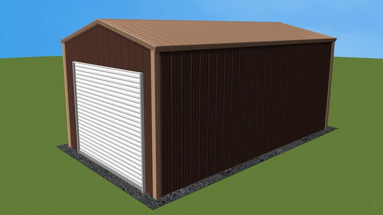 12x21 All Vertical Style Garage