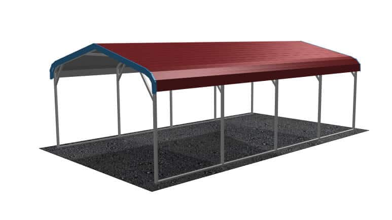 12x21 Regular Roof Carport