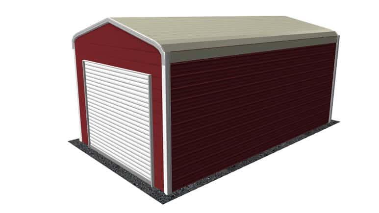 12x21 Regular Roof Garage