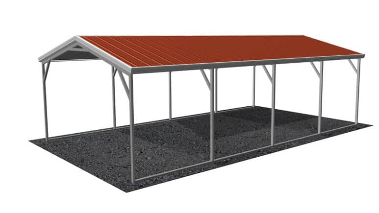 12x21 Vertical Roof Carport