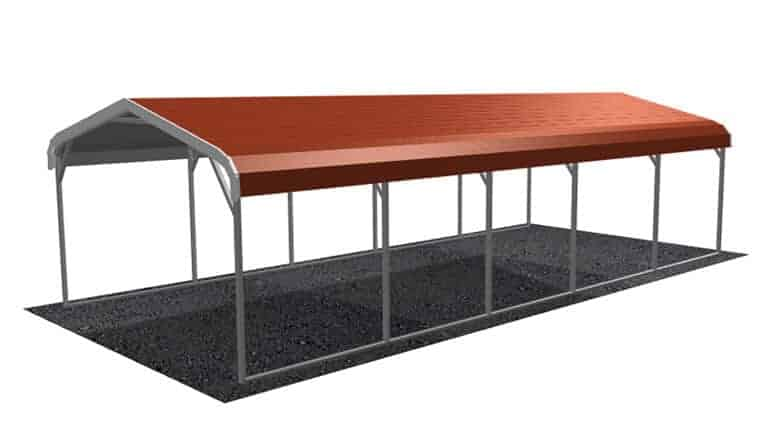 12x26 Regular Roof Carport