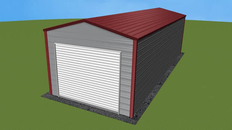 12x31 A-Frame Roof Garage