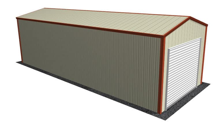12x31 All Vertical Style Garage