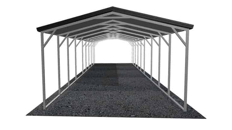 12x46 Vertical Roof Carport