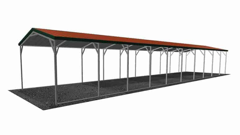12x51 Vertical Roof Carport