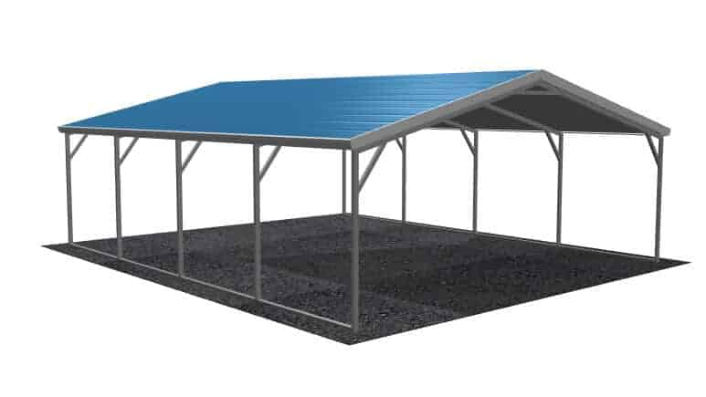 18\' x 21\' A-Frame Metal Carport | Lowest Buy Online Price $1300