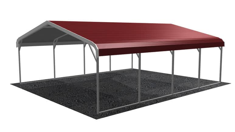 18x21 Regular Roof Carport