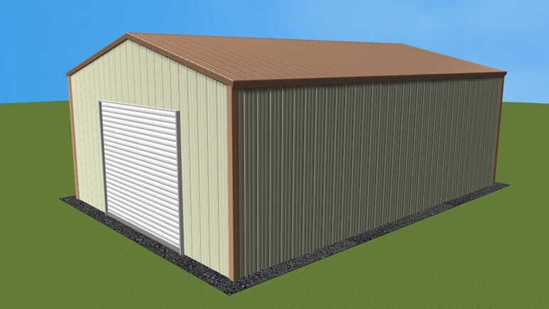 18x26 All Vertical Style Garage