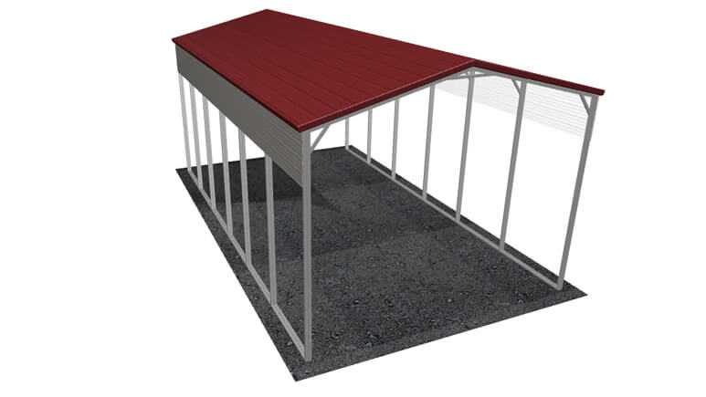 18\' x 31\' A-Frame Roof Metal RV Cover|Lowest Buy Online Price $1800