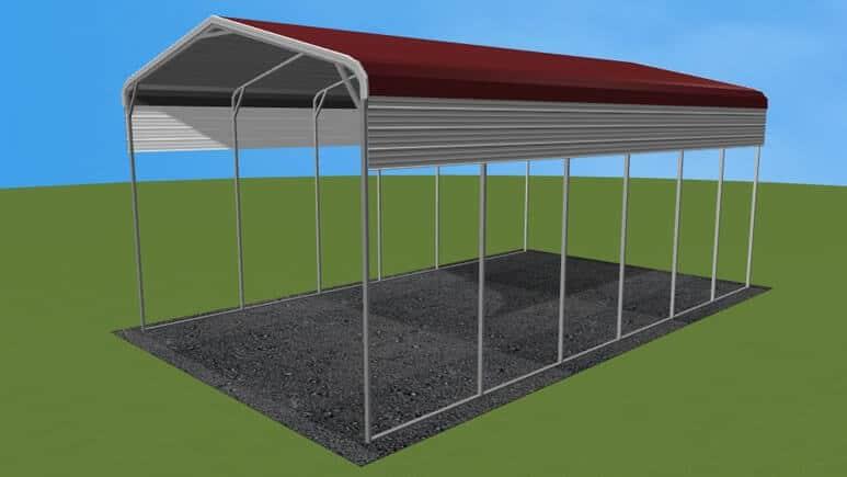 18×31 Regular Roof RV Cover