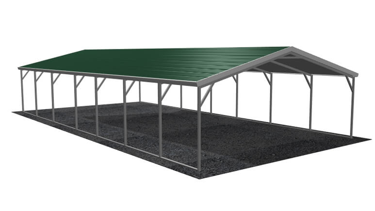 18\' x 36\' A-Frame Metal Carport | Lowest Buy Online Price $2100