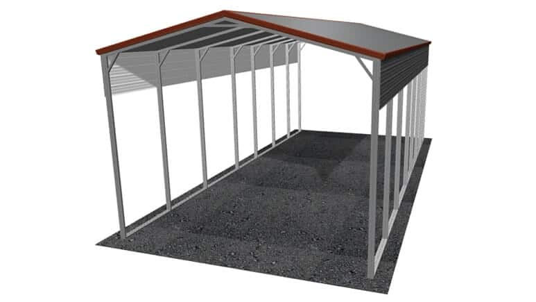 18x36 Vertical Roof RV Cover