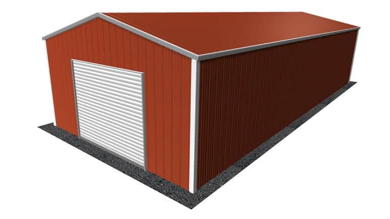 18x41 All Vertical Style Garage