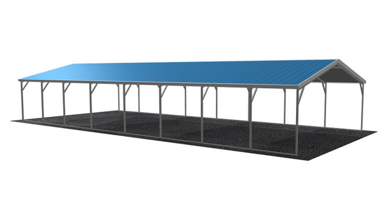 18x41 Vertical Roof Carport