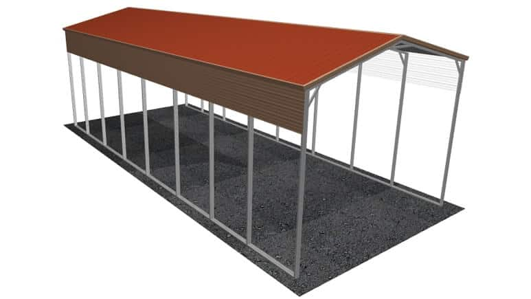 18x41 Vertical Roof RV Cover