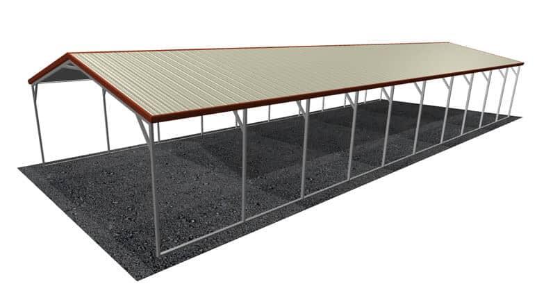 18x51 Vertical Roof Carport