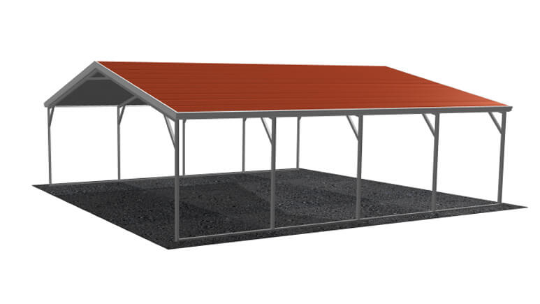 20\' x 21\' A-Frame Metal Carport | Lowest Buy Online Price $1500