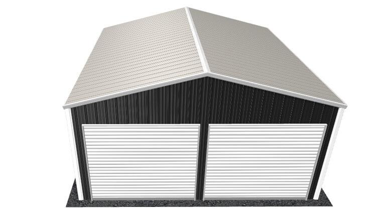 20x21 All Vertical Style Garage
