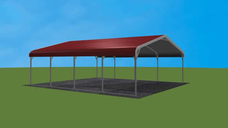 20x21 Regular Roof Carport