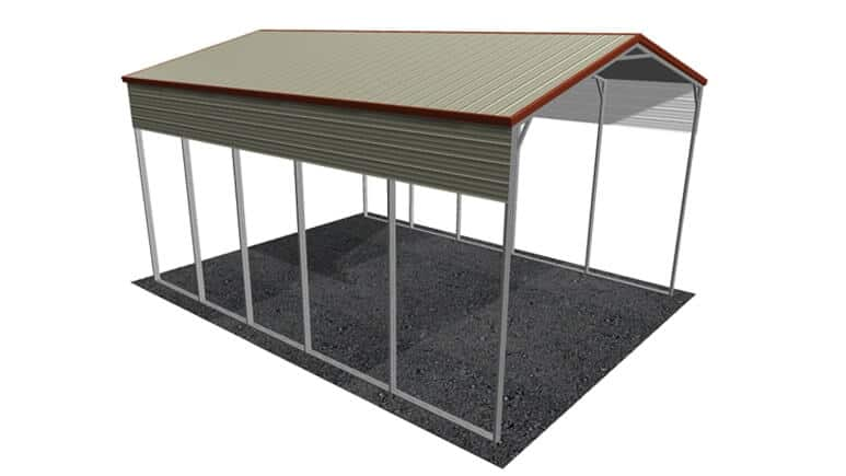 20x26 Vertical Roof RV Cover
