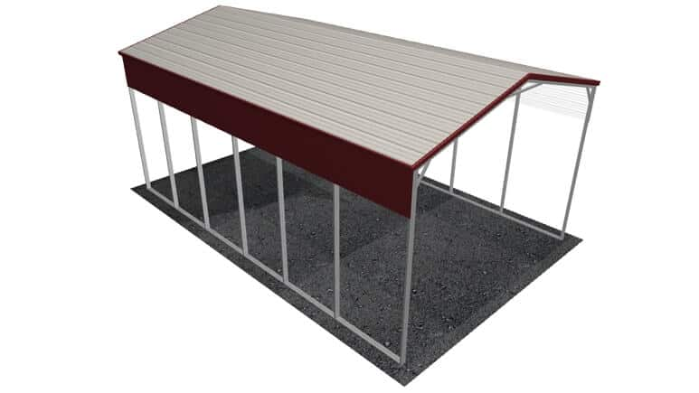 20x31 A-Frame Roof RV Cover