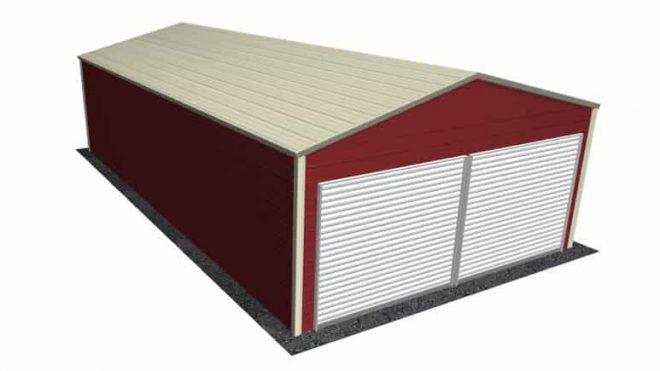 A Frame Style Garages | Boxed Eave Metal Garages | Sheds For Sale