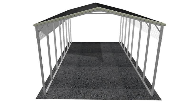 20\' x 36\' A-Frame Roof Metal RV Cover|Lowest Buy Online Price $2400