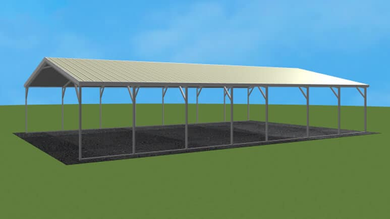20x36 Vertical Roof Carport