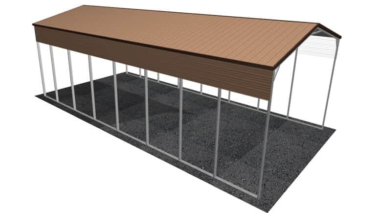 20x41 Vertical Roof RV Cover