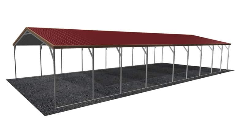 20x46 Vertical Roof Carport