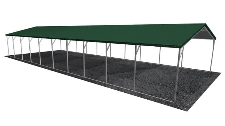 20x51 Vertical Roof Carport