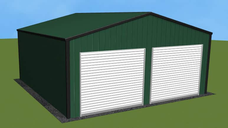 22x21 All Vertical Style Garage