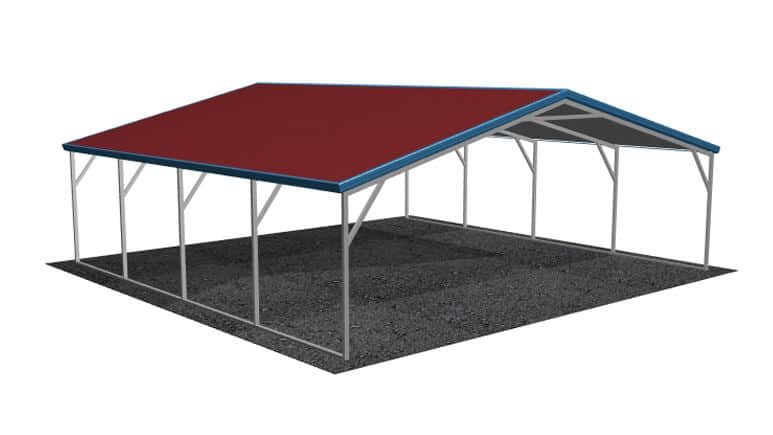 22x21 Vertical Roof Carport