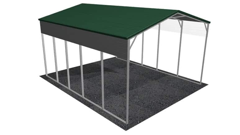 22x26 A-Frame Roof RV Cover