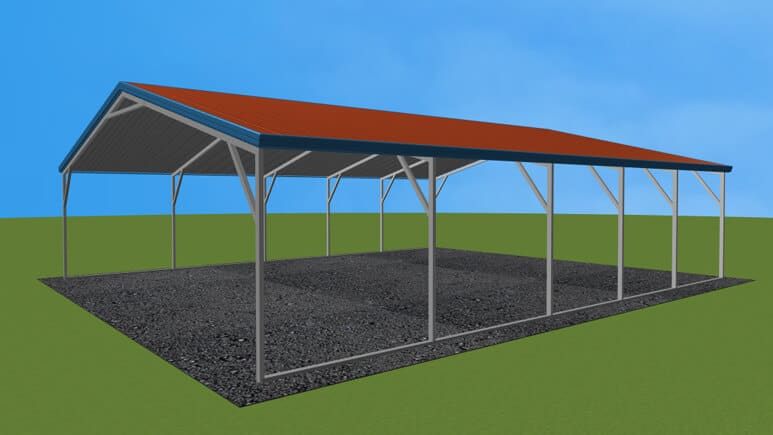 22x26 Vertical Roof Carport