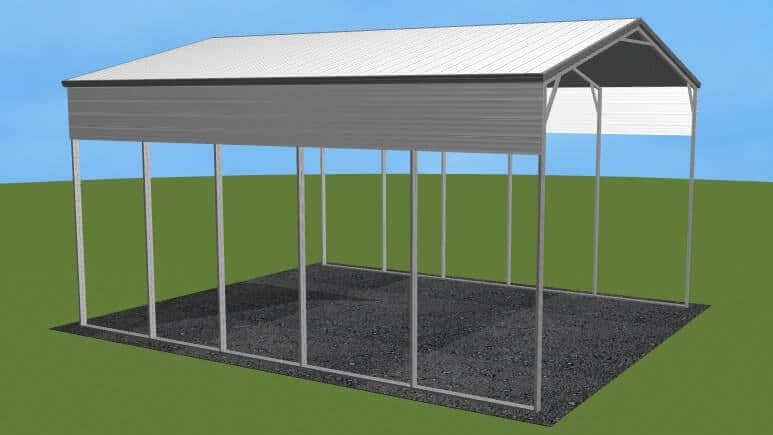 22x26 Vertical Roof RV Cover