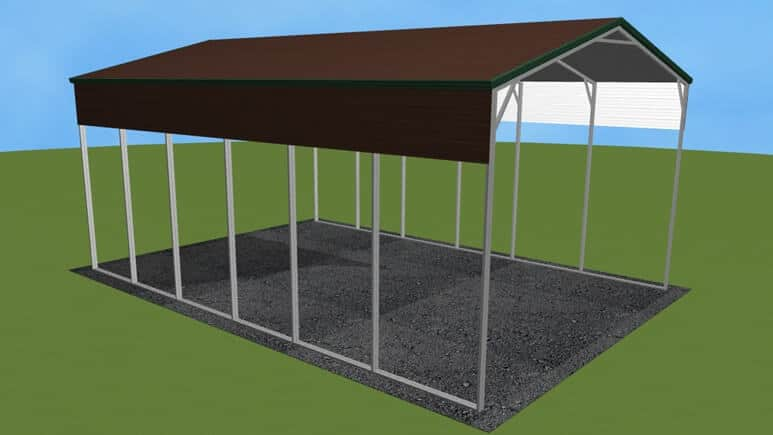 22x31 A-Frame Roof RV Cover