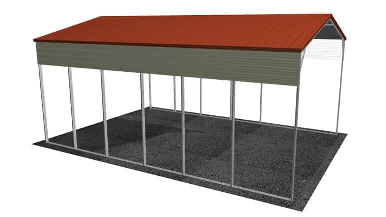 22x31 Vertical Roof RV Cover