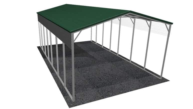 22x36 A-Frame Roof RV Cover