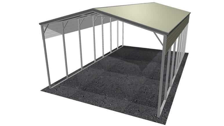22x36 Vertical Roof RV Cover