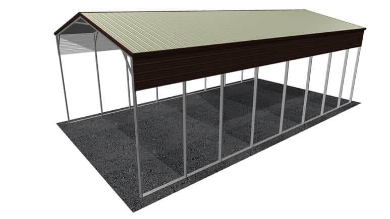 22x41 Vertical Roof RV Cover