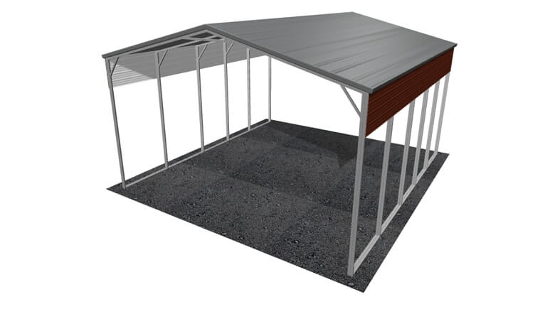 24\' x 26\' A-Frame Roof Metal RV Cover|Lowest Buy Online Price $2400