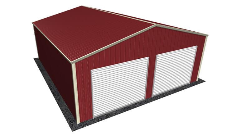 24x26 All Vertical Style Garage