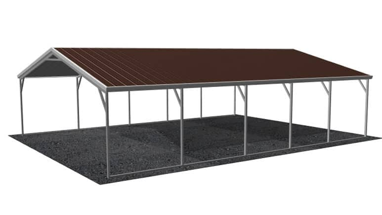 24x26 Vertical Roof Carport