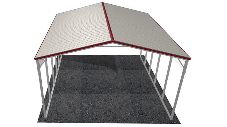 24x26 Vertical Roof RV Cover