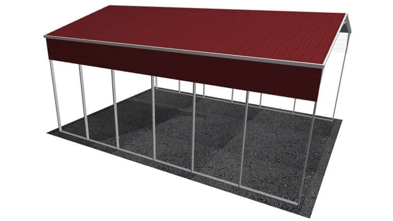 24x31 Vertical Roof RV Cover