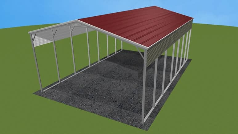 24x36 A-Frame Roof RV Cover