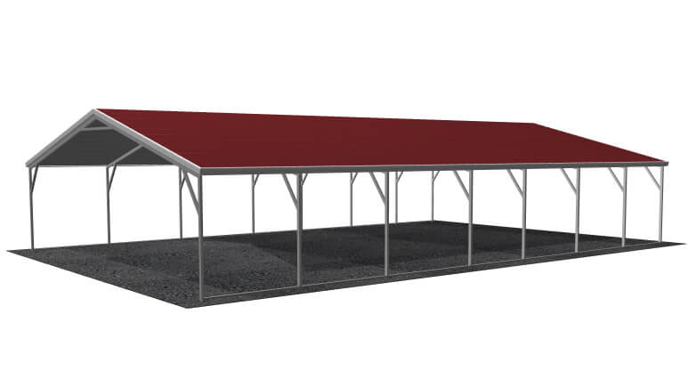 24x36 A-Frame Roof Carport