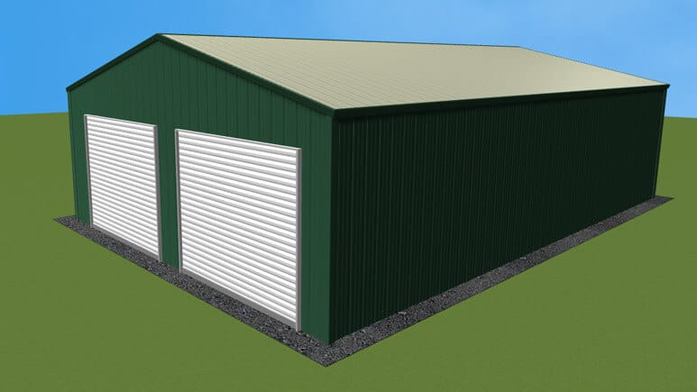 24x36 All Vertical Style Garage