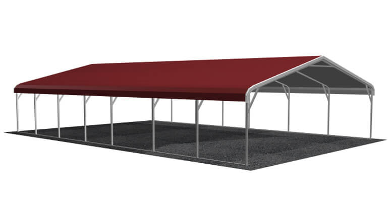24x36 Regular Roof Carport